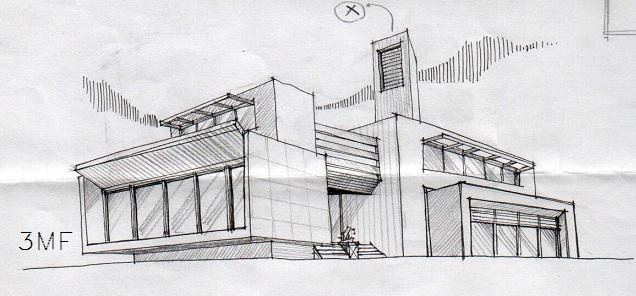 احسان کارتونز - اسکیس معماری